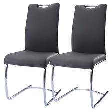2 x Freischwinger Schwingstuhl Esszimmerstuhl Sitzgruppe Stühle Kunstleder