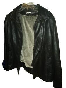 Avanti Black Leather Jacket Womans Size Xl