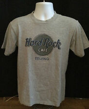 Hard Rock Cafe Beijing China T shirt, Men's Small - Grey Cotton Screened Logo