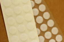 Self Adhesive WHITE Hook & Loop Coins 13mm SACOIN® or 16mm VELCRO® Dots Spots