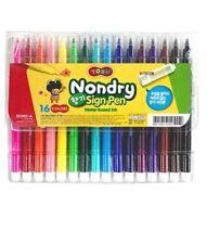 Dong-a TORU Nondry 16 Colored Water Based Ink Felt-Tip Pen Marker Set Drawing