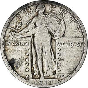 [#841645] Coin, United States, Standing Liberty Quarter, Quarter, 1919, U.S.
