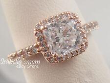 TIMELESS ELEGANCE Authentic PANDORA Rose GOLD Plated~ZIRCONIA Ring Sz 6 (52) NEW