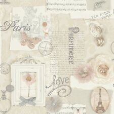 ARTHOUSE FELICITY CREAM SCRIPT SHABBY CHIC QUALITY FEATURE WALLPAPER 665400