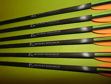 "Set 6 EK Archery Research Carbon Bolts 20"" Quiver Lube Wax Crossbow Arrow"