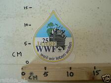 STICKER,DECAL 25 JAHRE WWF WEIL WIR LEBEN WOLLEN PANDA ARK NOAH