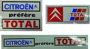 Citroen Citroën préfère Total cling film labels set of 3 fit inside window UK