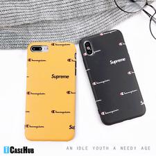 58d210168780 Custom Champion x Supreme Logo Soft TPU iPhone X XR Xs Max 6 7 8 Plus