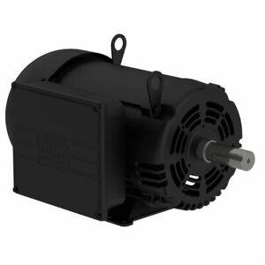 WEG 10 HP Single Phase 1750 RPM Air Compressor Duty Electric Motor 215T Frame