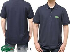 LACOSTE Mens X-Small (3) SHORT SLEEVE Cotton PIQUE POLO in Navy Blue w/ 5cm croc