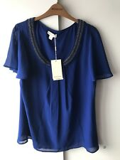Monsoon Blue Top Size 16