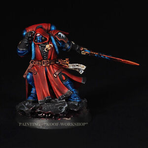 Warhammer 40k Painted Blood Angels Flesh Tearers Librarian in Phobos Armour