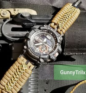 Casio G-Shock, Pro Trek, Pathfinder, Paracord Watch Band Premium Strap