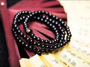 Bracciale collana mala tibetano 108GRANI 6mm rosario preghiera buddista elastico