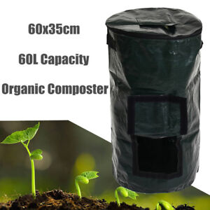 30x60cm 60L Compost Bin Compostable Bag Garden Kitchen Organic Waste  UK! AU1