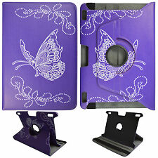 """For Kindle Fire HDX 8.9""""  4th  Gen Purple Butterfly PU Leather Case Cover O3"""