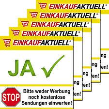 5 Boîte aux Lettres Autocollants Sticker Aucun Publicité Ich Möchte Uniquement