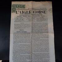 NAPOLÉON N°19 ON JOURNAL WHOLE THE EAGLE CORSICA 5 MAI 1869 -> GENES ITALY