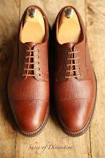 Crockett & Jones Brown Leather Lace Up Shoes Men's Uk 7.5 E Eu 41.5 Us 8.5
