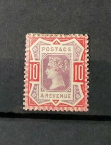 GB QUEEN VICTORIA SG 210B 10D DULL PURPLE AND SCARLET M/MINT