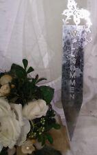 Flower Bed Plug Welcome Stake Schmettling Flowerpot 2 3/8x11 13/16in Metal Zinc