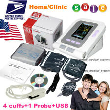Digital Upper Arm Blood Pressure Monitor 4 BP Cuffs Adult/Neonate,SpO2 Probe+USB