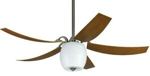 Ceiling fan with light kit and remote FANIMATION THE MARIANO Pewter 132 cm 52""