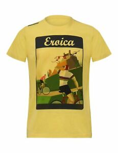 Eroica Epoca T-Shirt in Yellow - Gialla - By Santini