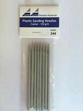 Albion Alloys Plastic Sanding Needles Coarse 150 Grit (Grey) Pack Of 8