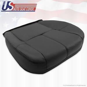 2007 - 2013 Chevy Silverado Avalanche Driver Bottom Leather Seat Cover Black