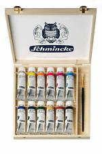 Schmincke Akademie® Ölcolor Holzkasten Hilfsmittel Pinsel  Ölfarbe Malkasten