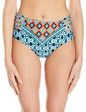 Kenneth Cole New York Women's Tribe Vibes High Waisted Bikini Bottom Size L