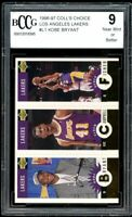 1996-97 Coll's Choice Lakers #1 Kobe Bryant Rookie Card BGS BCCG 9 Near Mint+