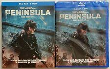 NEW TRAIN TO BUSAN PRESENTS PENINSULA BLU RAY DVD 2 DISC SET + SLIPCOVER SLEEVE