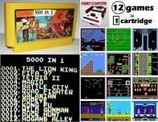 """Super 5000 in 1"" Famicom 12 Games Nintendo NES Tetris,mario,lion king,tecmo,"