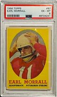 EARL MORRALL 1958 TOPPS CARD #57 PSA GRADED EX-MT 6 PITTSBURGH STEELERS RECORD