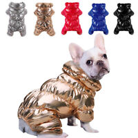 Waterproof Dog Winter Jumpsuit Clothes Small Medium Dogs Warm Jacket Fleece Coat