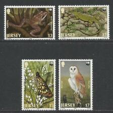Jersey 1989 World Wildlife Fund-Attractive Animal Topical (507-10) Mnh