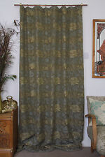 "William Morris Cray Woven Fabric Velvet Lined Door Curtain 84"" Drop"
