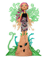 "Monster High Treesa Thornwillow Garden Ghouls 14.5"" Poseable Doll w/ Tree Stand"