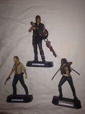 "Walking Dead Loose Color Tops 7"" McFarlane AMC Rick Daryl Michonne Set Lot"