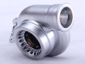 Turbo Keyring Keyfob Engine Exhaust Novelty Spinning Piston Supercharger Toy