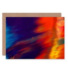 Abstract Paint Smear Blank Greeting Card With Envelope