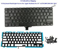 "US Keyboard+BackLight+Screws For Apple MacBook Pro 13"" A1278 2009 2010 2011 2012"