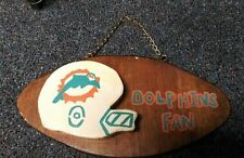 Miami Dolphins Fan Wood Hanging Sign
