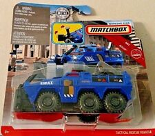 MATCHBOX 2019 WORKING RIGS S.W.A.T. BLUE TACTICAL RESCUE VEHICLE NEW! HTF!