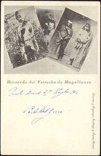 chile, PUNTA ARENAS, Estrecho de Magallanes Indios, Native Indians (1902)