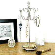 Jewellery Hanger Holder Stand Grey Necklace Bracelet Storage Vintage Display