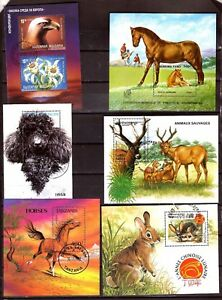 All Countries 6 Blocks: Animals Wild And Domestic SP88