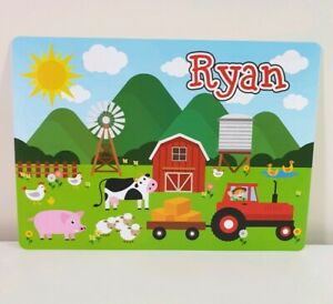 RYAN - Boys Name Personalized Childs Placemat - Craft Mat ('RYAN' print only)